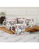 India Cirucs Appliqued Harmony Mug (Set of 6)