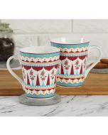 India Circus Magenta Quirk Zing Mug Set of 2