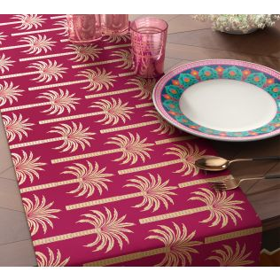 India Circus Blushed Palmeria Table & Bed Runner