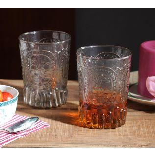 India Circus Vintage Glass Tumbler (Set of 2)