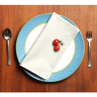 India Circus Taupe Table Napkin Set of 6