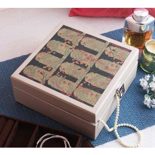 India Circus Cypress Vines Leather Jewellery Box