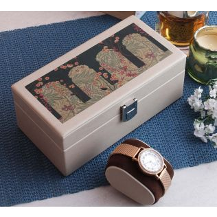 India Circus Cypress Vines Leather Watch Box