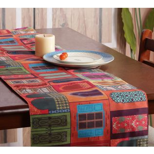 India Circus Mughal Doors Reiteration Bed and Table Runner