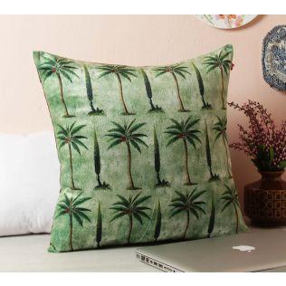 India Circus Palmeria Conifer Reiteration Blended Velvet Cushion Cover
