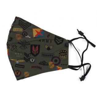 India Circus Army Badges Rush Comfortable Outdoor Face Mask