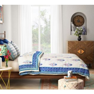 India Circus Birdi Park Quilted Bed Cover Set