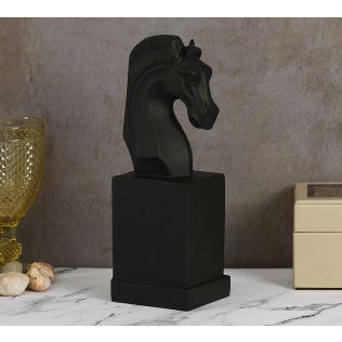 India Circus Black Beauty Horse Head Figurine