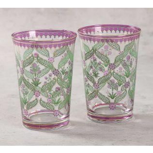 India Circus Blooming Dahlia Glass Tumbler Set of 2