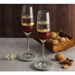 India Circus Bronze Honeycomb Champagne Glass (Set of 2)