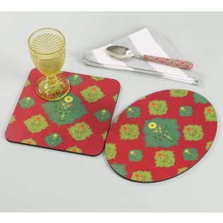 India Circus by Krsnaa Mehta Blossom Tales Trivet Set of 2
