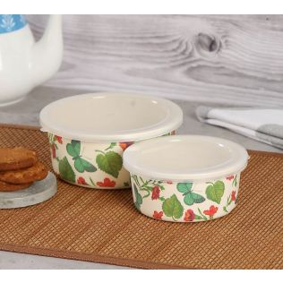 India Circus by Krsnaa Mehta Fluttering Extravagance Small Container set of 2