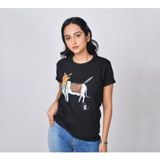 India Circus by Krsnaa Mehta Kamadhenu Implore Unisex Extra Small T-Shirt