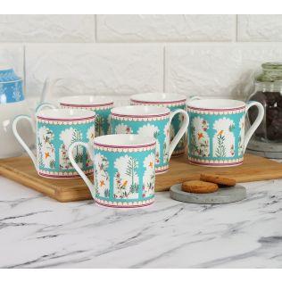 India Circus by Krsnaa Mehta Windows of Wisdom Espresso Mug Set of 6