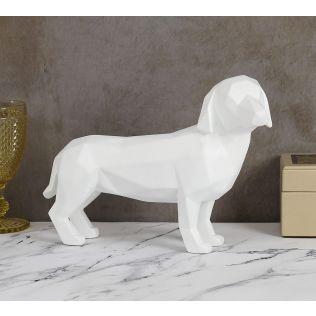 India Circus Chalk White Dachshund Figurine