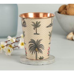 India Circus Chevron Palms Copper Tumbler