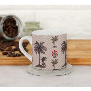 India Circus Chevron Palms Espresso Mug