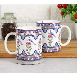 India Circus Chevron Perching Peacock Coffee Mug