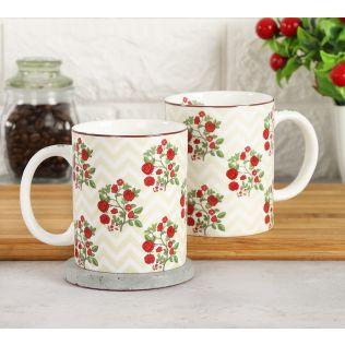 India Circus Chevron Roses Coffee Mug