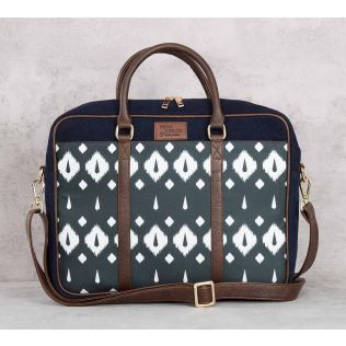 India Circus Conifer Symmetry Denim Laptop Bag
