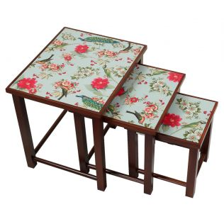 India Circus Feathered Garden Nested Table