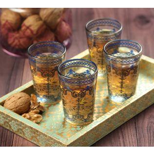 India Circus Flight of Birds Chai Glass (Set of 4)