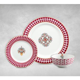 India Circus Floral Fountain Dinner Set