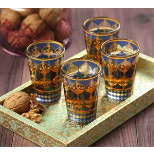 India Circus Floral Hypnosis Chai Glass (Set of 4)