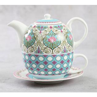 India Circus Floral Illusion Tea for One