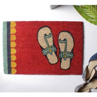 India Circus Funky Slippers Red Doormat