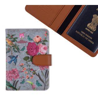 India Circus Grey Bird Land Passport Cover