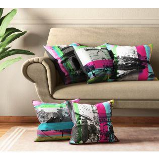 India Circus Incredible Pop India Cushion Cover Set of 5