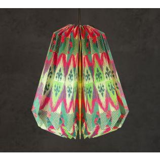 India Circus Lattice Chevron Mystery Paper Lantern
