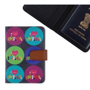 India Circus Love IC Passport Cover