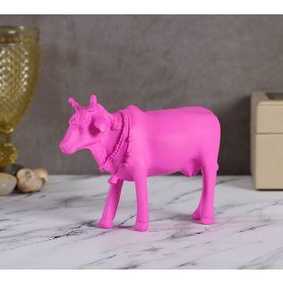 India Circus Neon Pink Cow Figurine