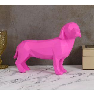 India Circus Neon Pink Dachshund Figurine