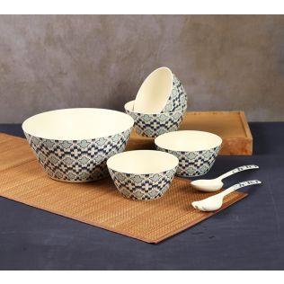 India Circus Organised Ovule Bamboo Salad Bowl Set
