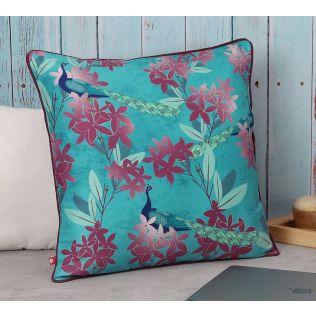India Circus Peacock Games Polyester Cushion Cover