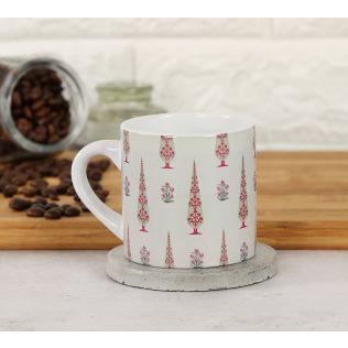 India Circus Poppy Conifer Beige Espresso Mug