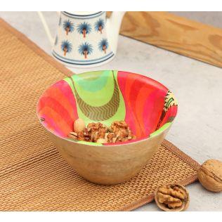 Ripple in a Zipper Wooden Bowl