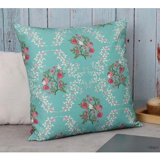 India Circus Robin Birds Canvas Cushion Cover