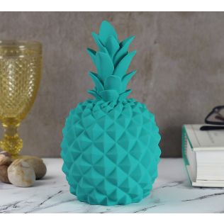 India Circus Teal Pineapple Decor Accent