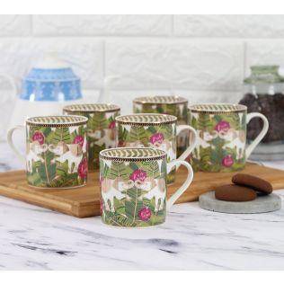 India Circus Tropical Tusker Coffee Mug Set of 6