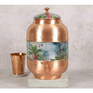 India Circus Tropical View Copper Water Dispenser