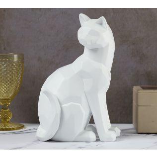 India Circus Fuchsia Cat Figurine