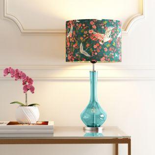 India Circus Glass Lamp Base