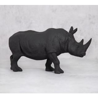 India Circus Black Rhino Calf Figurine