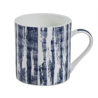 India Circus Blue Canvas Coffee Mug Set of 6