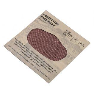 India Circus Brown Textured Cotton Mask