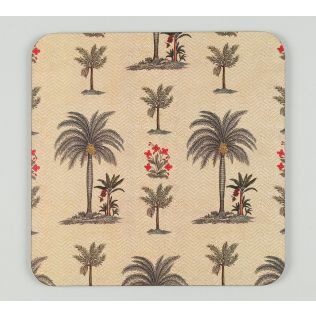 India Circus by Krsnaa Mehta Chevron Palms Trivet Set of 2